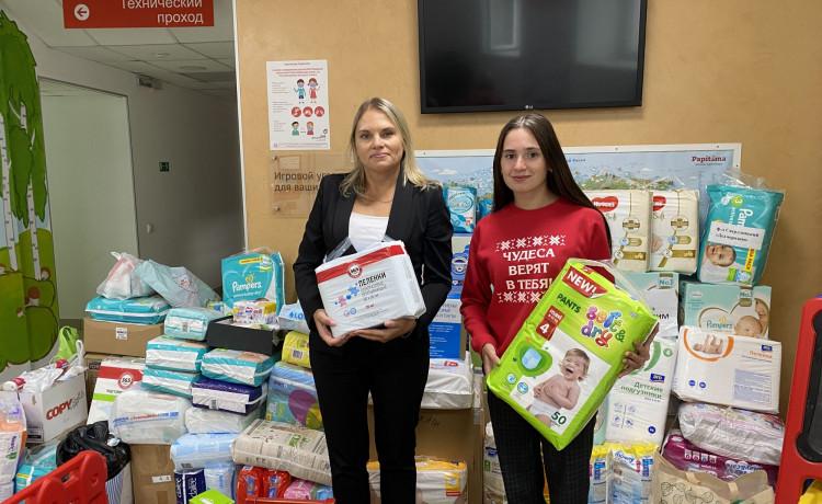 Жители Прикамья передали 4 тысячи подгузников для малышей-сирот в больницах
