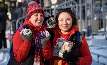 Летающие лыжники подарили Диане поддержку с воздуха